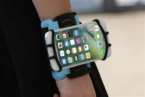 Wristband Smartphone Holder 180 Degree Rotatable 180 degree rotatable mobile phone arm band wristband black free shipping dealextreme