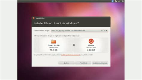 ubuntu 11 10 installer en dual boot avec windows 7