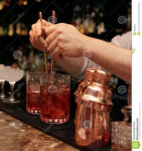 bartender photography bartender is stirring cocktails stock photography image