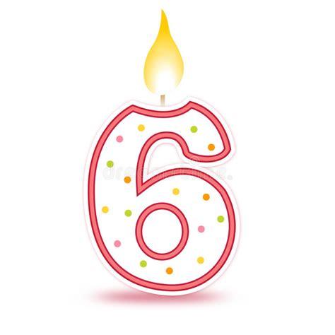imagenes de cumpleaños numero 23 vela del cumplea 241 os 6 ilustraci 243 n del vector