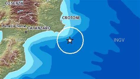 sede legale regione calabria calabria scossa di terremoto avvertita in tutta la