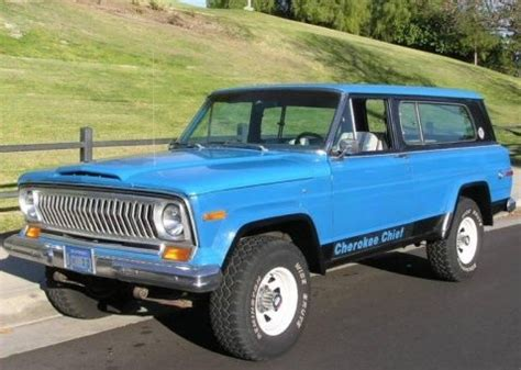 1977 Jeep Chief For Sale Blue Plate Survivor 1977 Jeep Chief V8 Bring A