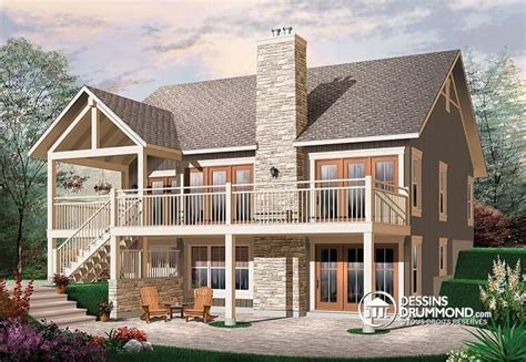 One Story Lake House Plans by D 233 Tail Du Plan De Maison Unifamiliale W3941