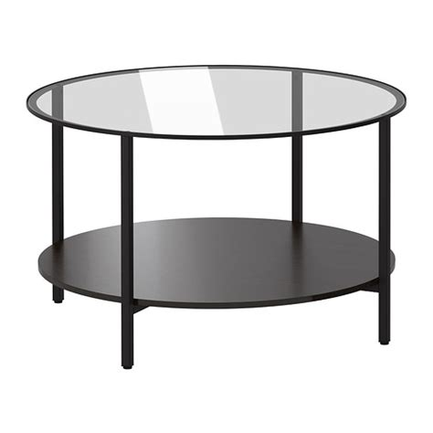 vittsj 214 coffee table black brown glass ikea