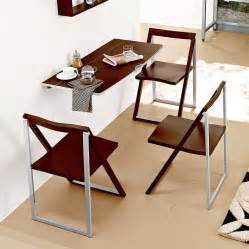 Dining table folding dining table attached to wall