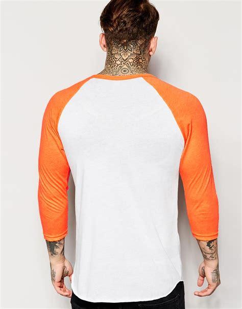 Raglan New Year 03 Ordinal Apparel american apparel raglan top in orange for lyst