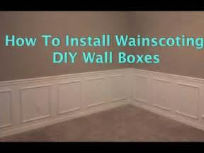 How To Do Wainscoting On Walls how to install wainscoting wall boxes