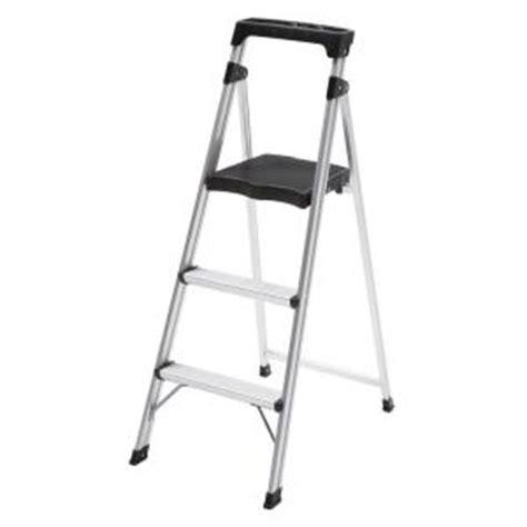 easy reach by gorilla ladders 3 step aluminum ultra light