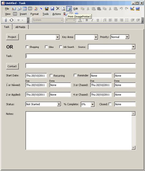 Outlook Form Templates personal information form template search results