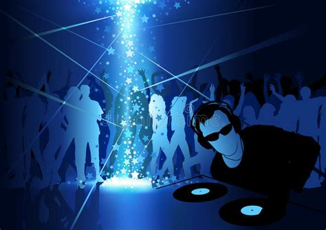 dance party light show dj dance party background stock vector image 72953310