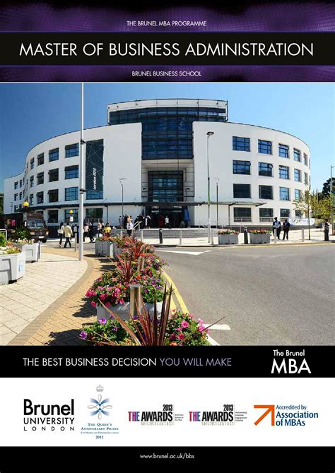 Brunel Mba by Brunel Mba Brochure 2014 By Brunel Issuu