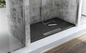 high dusche duschwanne avant high tech kunststoff mit ablaufschiene