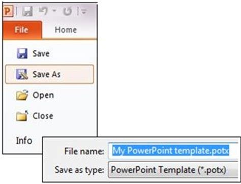 How To Save Powerpoint Template create and save a powerpoint template powerpoint