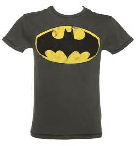 Logo T Shirt S Grey Washed Batman Logo T Shirt From Fabric