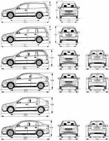 Opel Astra G Dimensions