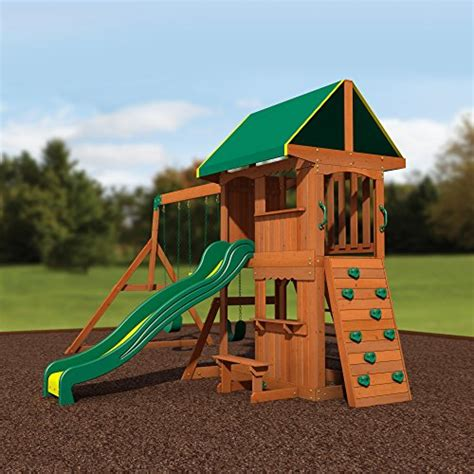 backyard discovery somerset all cedar wood playset swing