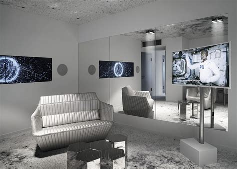 Living Room Zurich Space Suit Futuristic Apartment Residence Design