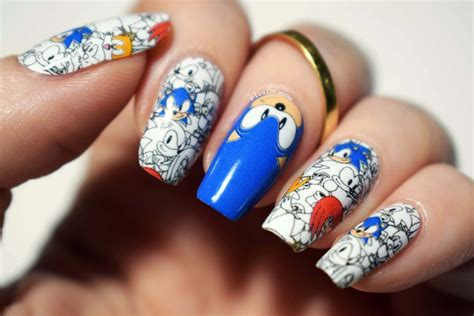espionage cosmetics sonic knuckles  tails nail wraps