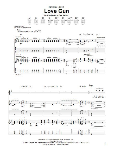 love theme kiss tab love gun by kiss guitar tab guitar instructor