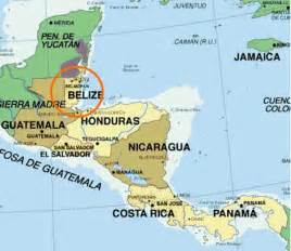 Belize World Map by Map Showing Location Of Belize