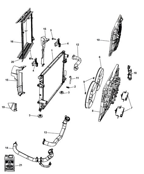 Chrysler 300 Parts by Radiator Chrysler 300 Parts Diagram Chrysler Auto Parts