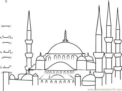White Page Search By Address Blue Mosque Colouring Page Search Ramadan