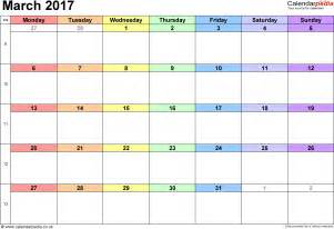 Calendar For 2017 March 2017 Calendar Template Weekly Calendar Template