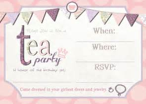 tea party invitation template free printable wedding