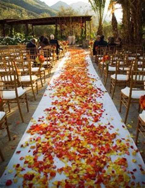 Wedding Aisle With Leaves by Outdoor Fall Wedding Ideas Unique Pastiche Events