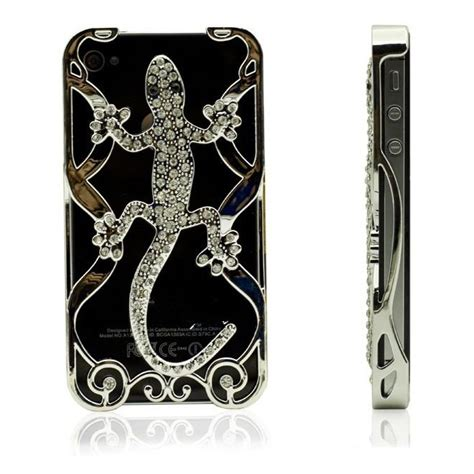 Eletroplate Phone Hollow Lizard For Iphone 55s Silver Eletroplate Phone Hollow Lizard For Iphone 5