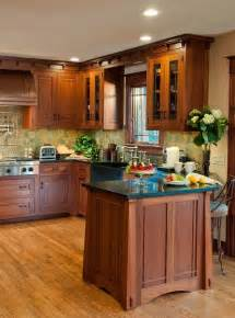 mission style kitchen island craftsman kitchen craftsman style homes