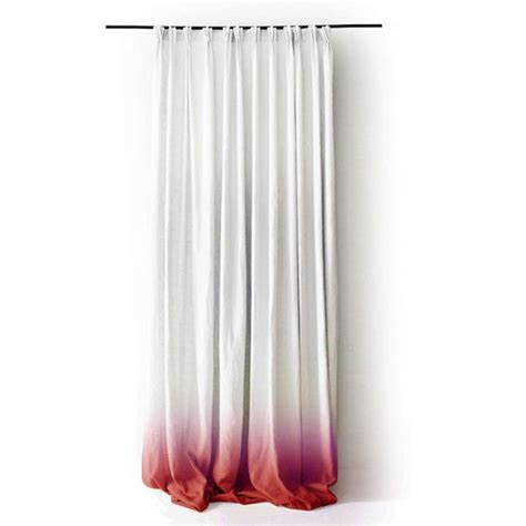 red linen curtains linen curtain ombre red fade to white pinch pleat window