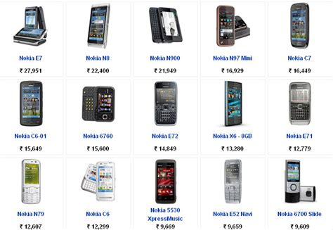 Mobile Price List Nokia Mobile Phones Price List With Pictures Find Mobile
