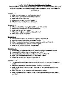 Comprehension Questions for each chapter of the novel