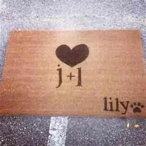 Outdoor Doormat Couples Custom Made Outdoor Doormat Welcome Mat