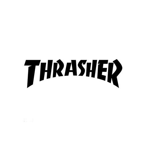 The Thrasher by Thrasher Logo Die Cut Sticker 2 125 Quot X 5 75 Quot Black