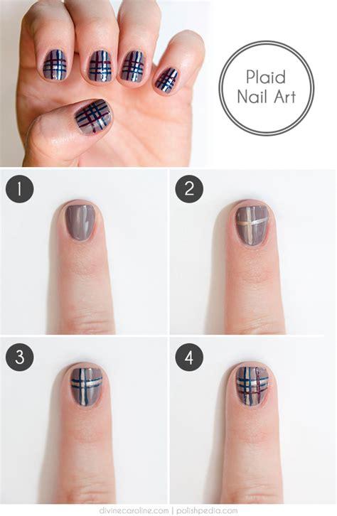 plaid pattern nails easy plaid nail art how to more com