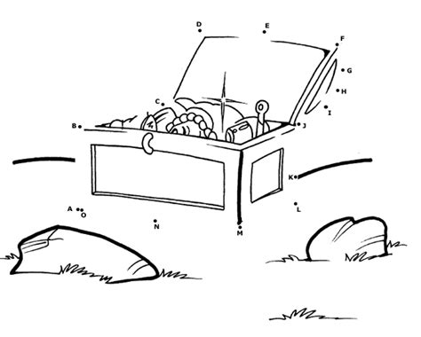 coloring page treasure chest treasure dot to dot coloring page