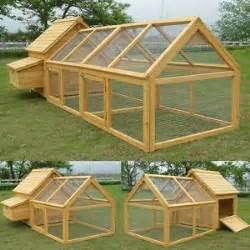 Duck Hutch Plans Chicken Coop Amp Run Hen House Poultry Ark Home Nest Box