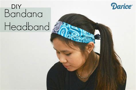 how to make a bandana how to make a bandana headband darice crafts