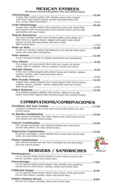 spanish restaurant menu template