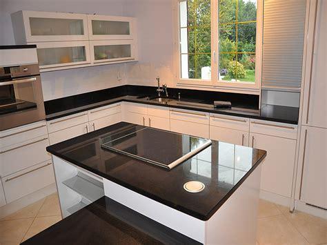 Plan De Travail Inox 31 by Int 233 Rieur Granit Plan De Travail En Granit Noir