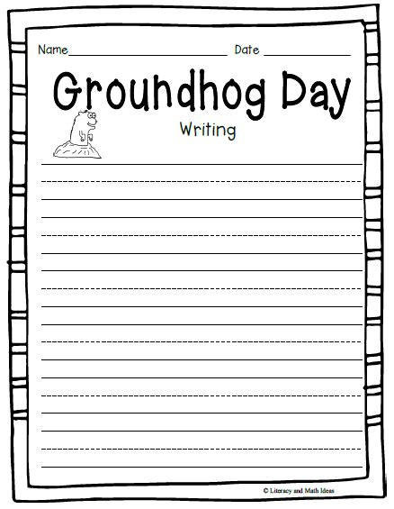groundhog day writing paper simply centers free groundhog day writing