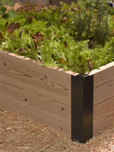 aluminum corner brackets  diy raised garden beds