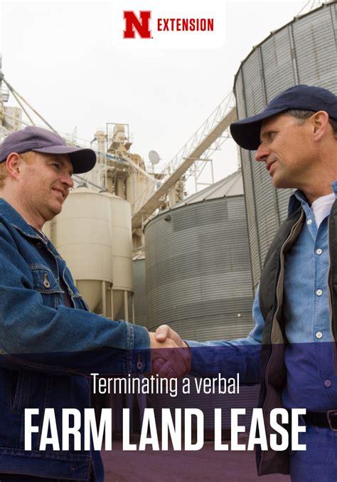 Farm Lease Termination Letter Nebraska terminating a verbal farm land lease cropwatch