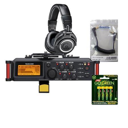 Tascam Dr 70d Professional Field Recorder tascam dr 70d 4 channel audio recorder for dslr cameras w acc bundle dr 70d b