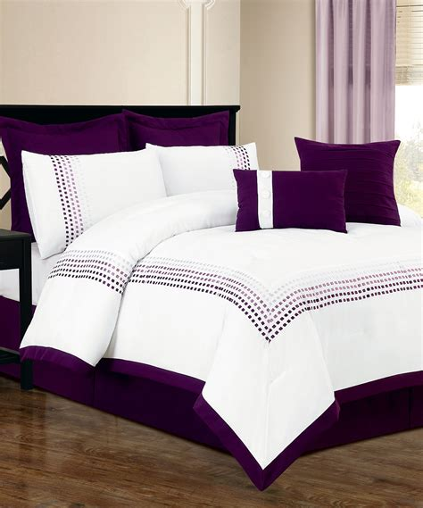 white and purple comforter sets duck river textile white purple klyne comforter set zulily