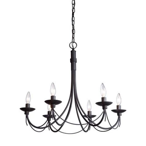 Black Metal Chandeliers black metal chandelier bellacor