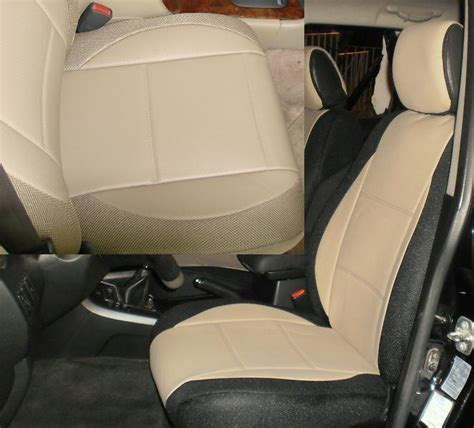 volvo tan leatherette custom fit  front car seat covers summary