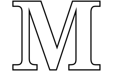 Free Coloring Pages Of Bubble Letter Capital M Coloring Letter M